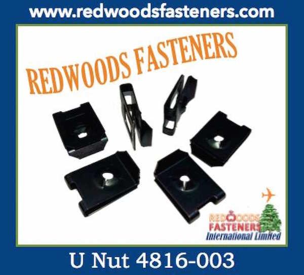U Type Nuts Captive Redwoods Fasteners International Limited