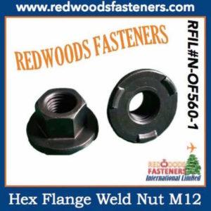 Hex Flange Weld Nuts