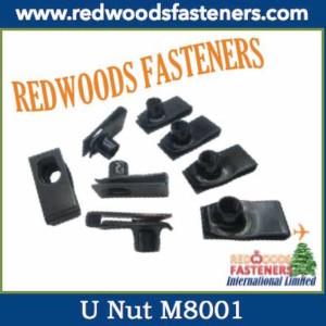 U Nut with barrel M8001